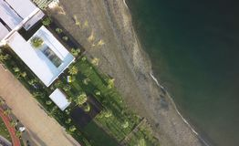 Aerial view of beach royalty free stock image