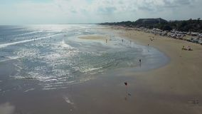 Aerial view on the beach.  stock footage