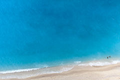 Aerial view of a beach Royalty Free Stock Image