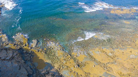 Aerial view of beach, Australia. Scenic aerial view of Eagles Nest in Cape Paterson, Victoria, Australia Royalty Free Stock Images