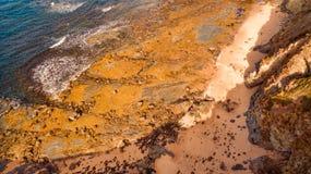 Aerial view of beach, Australia. Scenic aerial view of Eagles Nest in Cape Paterson, Victoria, Australia Stock Photo