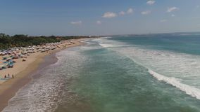 Aerial view beach, Bali, Kuta. stock video footage