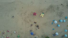 Aerial view on the beach. Bali. Ocean stock video