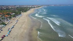 Aerial view on the beach. Bali. Ocean stock video footage