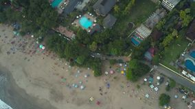 Aerial view on the beach. Bali. Ocean stock footage
