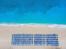 Aerial view at the beach. Beautiful natural seascape at the summer time. royalty free stock image