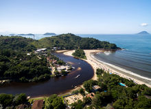 Aerial view of beach in Brazil Stock Photo
