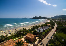 Aerial view of beach in Brazil Royalty Free Stock Images