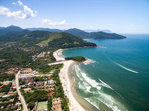 Aerial view of beach in Brazil Stock Images