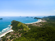 Aerial view of beach in Brazil Royalty Free Stock Photos