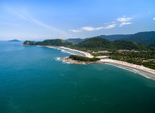 Aerial view of beach in Brazil Royalty Free Stock Photography