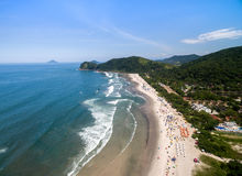 Aerial view of beach in Brazil Stock Image