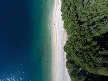 Aerial view at beach Royalty Free Stock Photography