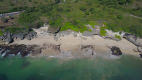Aerial view on the beach and coast stock video