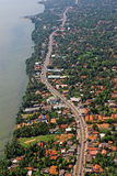 Aerial View Beach Coastal Highway Tropical Island  Colombo Sri Lanka Royalty Free Stock Photos