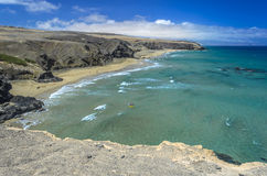Aerial View of a Beach in Fuerteventura, Canary Islands Stock Photos