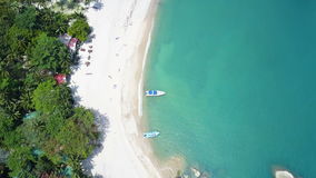 Aerial view of the beach Haad Than Sadet Beach Koh Phangan stock footage