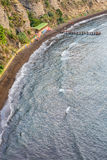Aerial view of beach and jetty. Stock Photography