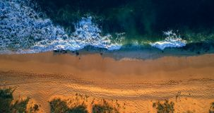 Aerial view of beach 4k stock footage