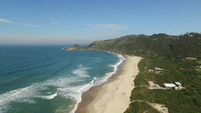 Aerial view Beach Mole praia Mole in Florianopolis, Santa Catarina, Brazil. July, 2017. Aerial view Beach Mole praia Mole in Florianopolis, Santa Catarina stock video