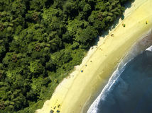 Aerial view of beach (nature).  Royalty Free Stock Photography