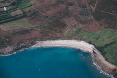 Aerial View of Beach and Ocean Royalty Free Stock Images