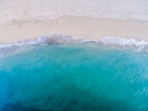 Aerial view of the beach and Ocean Royalty Free Stock Photo