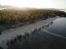 Aerial View of Siquijor Island, The Philippines royalty free stock image