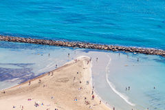 Aerial view of beach Stock Image