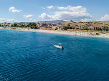 Aerial view beach and sea of Melito di Porto Salvo, Calabria. Italy Royalty Free Stock Photo