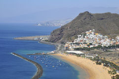 Aerial view a beach of Tenerife Stock Images