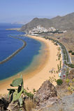 Aerial view a beach of Tenerife Stock Image