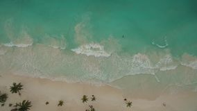 Aerial view of beach stock video footage