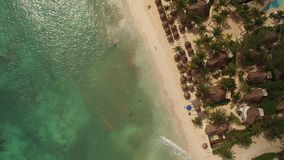 Aerial view of beach stock video
