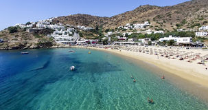 Aerial view of the beaches of Greek island of Ios island, Cyclad Royalty Free Stock Photography