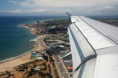 Aerial View Beachfront Royalty Free Stock Image