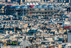 Aerial view beaubourg paris cityscape  France Stock Images