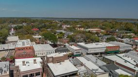 Aerial view of Beaufort, SC.  royalty free stock images