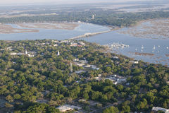 Aerial view of beaufort, South Carolina Royalty Free Stock Images