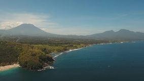 Aerial view beautiful beach. Bali,Indonesia. stock video