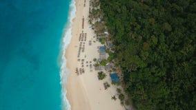 Aerial view beautiful beach on tropical island. Boracay island Philippines. stock video footage