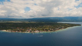 Aerial view beautiful beach on tropical island. Cebu island Philippines. stock video