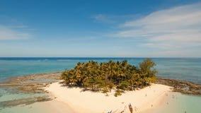 Aerial view beautiful beach on tropical island. Guyam island, Philippines, Siargao. stock footage