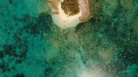 Aerial view beautiful beach on tropical island. Guyam island, Philippines, Siargao. stock video