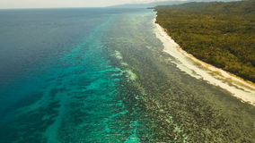 Aerial view beautiful beach on a tropical island. Philippines, Anda area. stock video footage