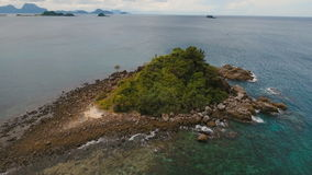 Aerial view beautiful beach on a tropical island. Philippines, El Nido. stock video
