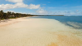 Aerial view beautiful beach on a tropical island. Philippines,Siargao. stock footage