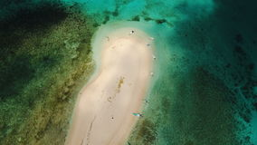 Aerial view beautiful beach on tropical island. Siargao island, Philippines. stock footage