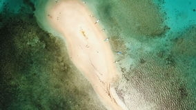 Aerial view beautiful beach on tropical island. Siargao island, Philippines. stock video