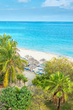 Aerial view of the beautiful beach of Varadero in Cuba Stock Photography